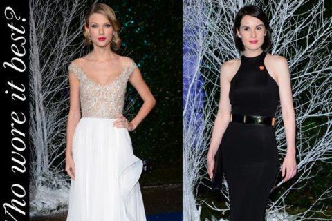Taylor Swift Michelle Dockery Winter Whites Gala