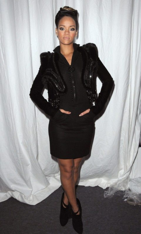 Rihanna Givenchy Spring 2010 Paris Fashion Week