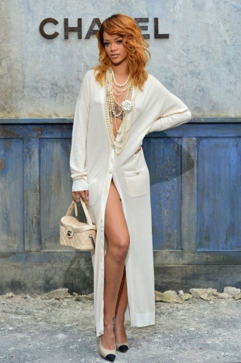 Rihanna attends Chanel Fall 2013 Couture