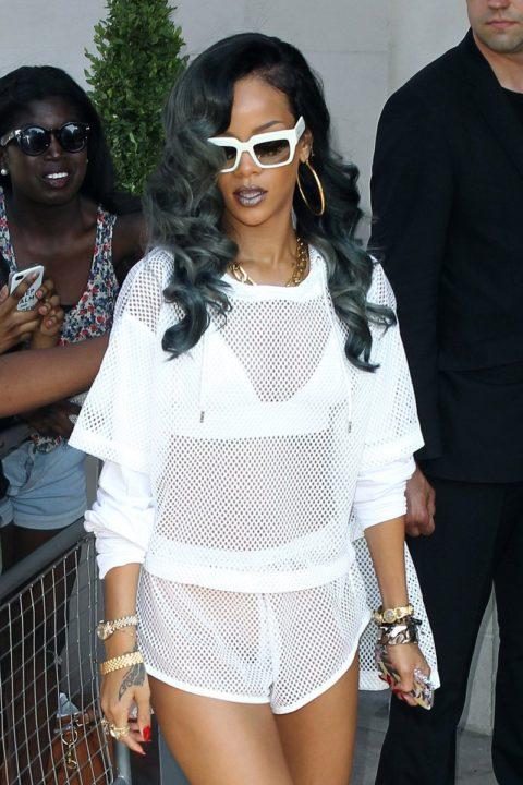 Rihanna grey hair