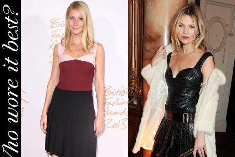 Gwyneth Paltrow Kate Moss British Fashion Awards 2013
