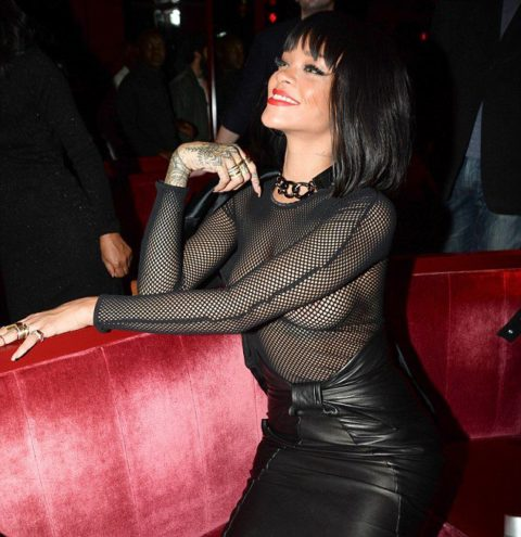Rihanna Balmain Fall 2014 Afterparty Paris