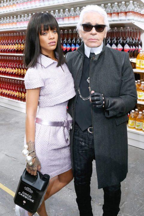 Rihanna Chanel Fall 2014 Fashion Show Paris