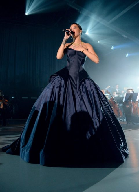 Rihanna Diamond Ball Performance Zac Posen