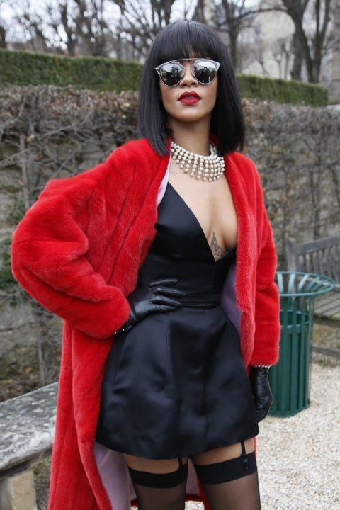 Rihanna Dior Fall 2014 Fashion Show Paris