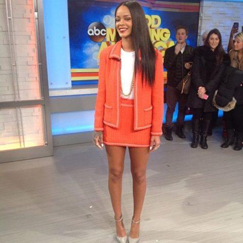 Rihanna Good Morning America January 2014