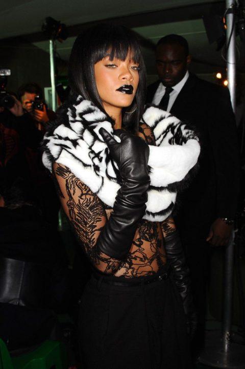 Rihanna Jean Paul Gaultier Fall 2014 Fashion Show Paris