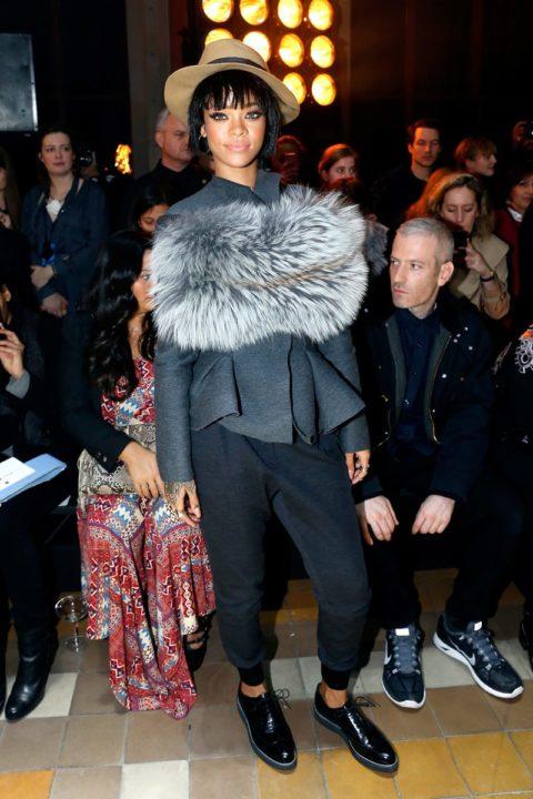 Rihanna Lanvin Fall 2014 Fashion Show Paris