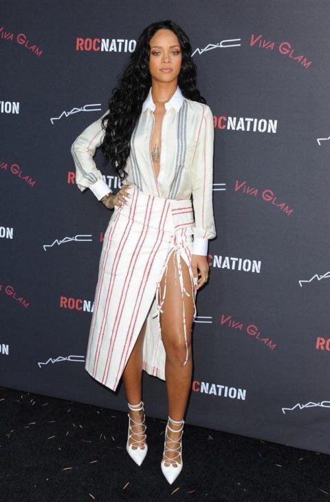 Rihanna Roc Nation Pre Grammys Altuzarra