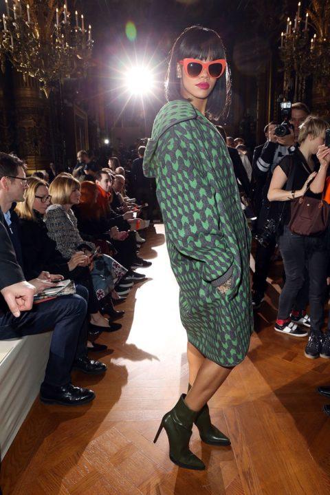 Rihanna Stella McCartney Fall 2014 Fashion Show Paris