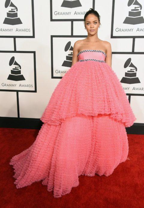 Rihanna style Grammys 2015