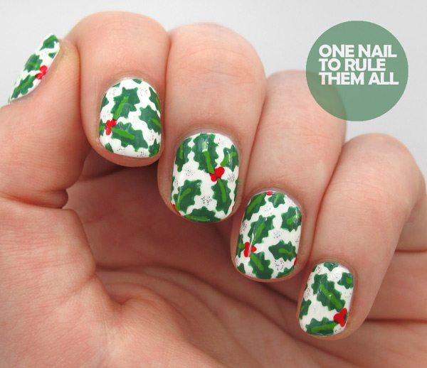 Christmas mistletoe nail designs days of nail art eight mistletoe view images best holiday nail art prinsesfo Choice Image