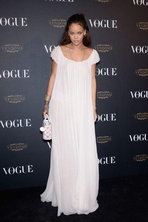 rihanna paris fashion week vogue party