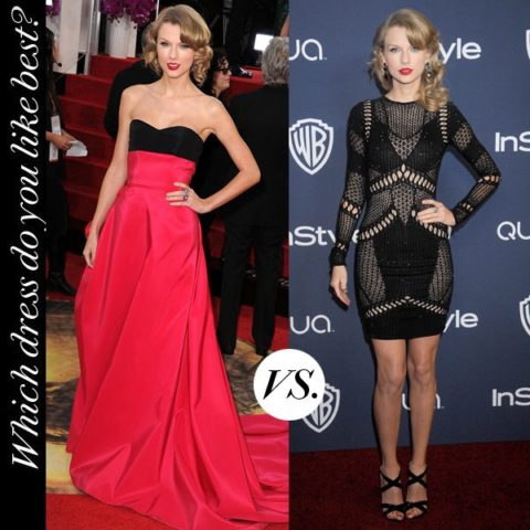 Taylor Swift Golden Globes Red Carpet After Party