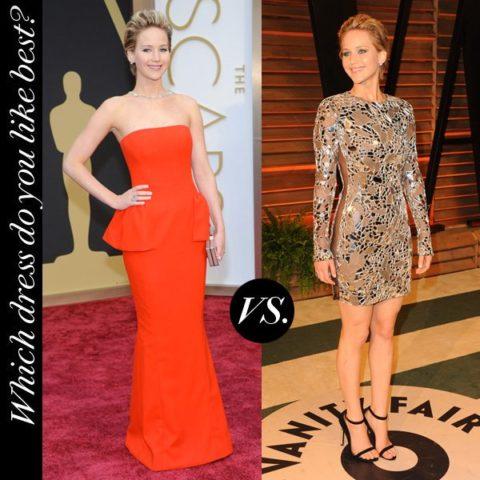 Jennifer Lawrence Oscars 2014 Red Carpet Afterparty
