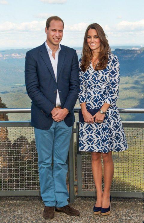 Kate Middleton Blue Mountains Australia DVF