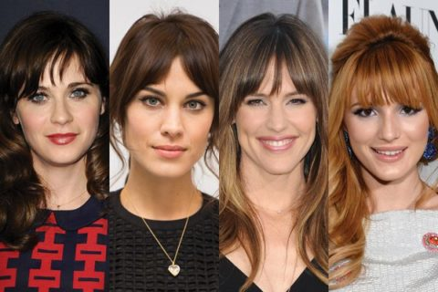 best celebrity bangs