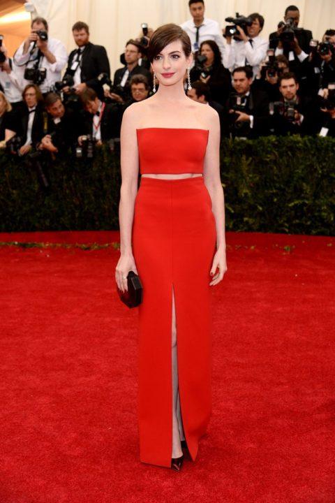 Met Gala 2014 Anne Hathaway