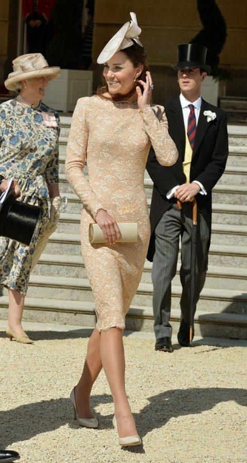Kate middleton queen garden party alexander mcqueen