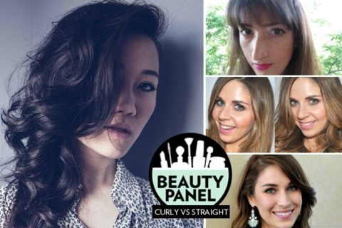 curly vs straight hairstyle beauty panel