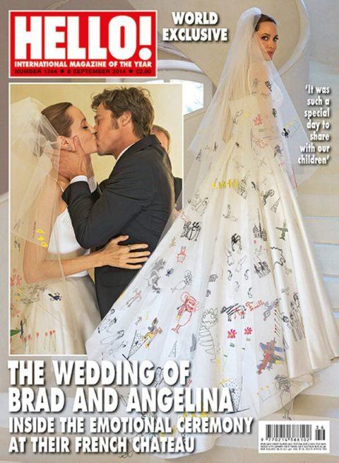 Angelina Jolie Wedding Hello Cover