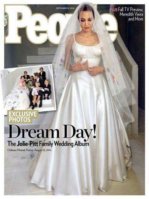 Angelina Jolie Wedding People Cover