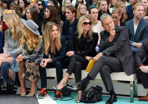 Burberry Front Row Spring 2015