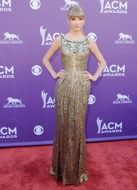 Taylor Swift Fashion Academy of Country Music Awards Red Carpet