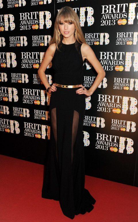 Taylor Swift Fashion Brit Awards 2013