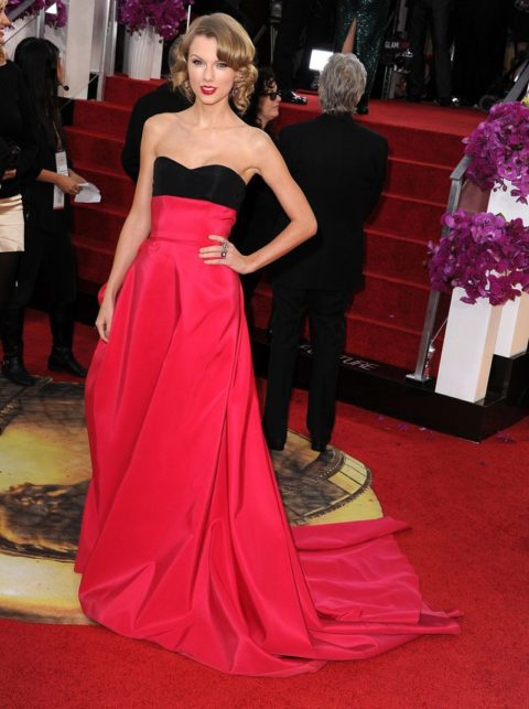Taylor Swift Fashion Golden Globes 2014