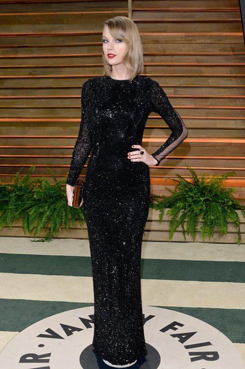 Taylor Swift Fashion Vanity Fair Oscar Party 2014
