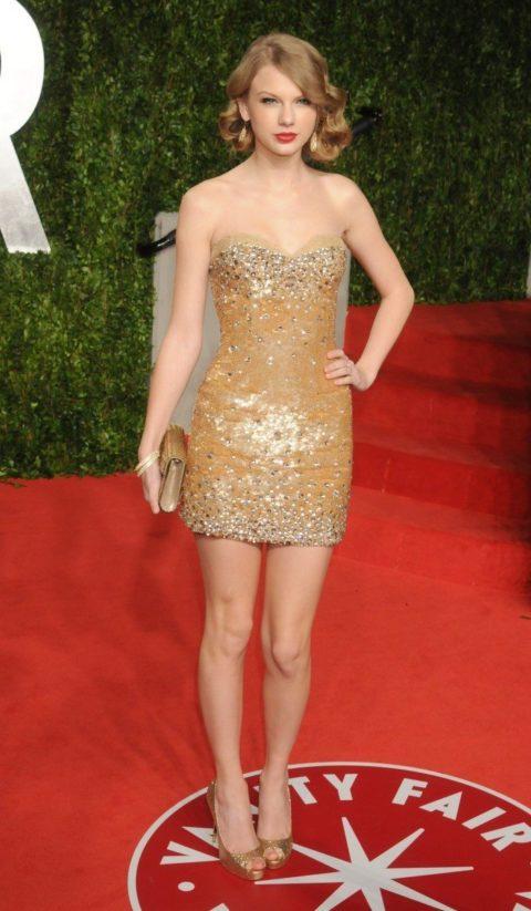 Taylor Swift Fashion Vanity Fair Oscar Party 2011