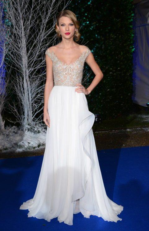 Taylor Swift Fashion Winter Whites Gala
