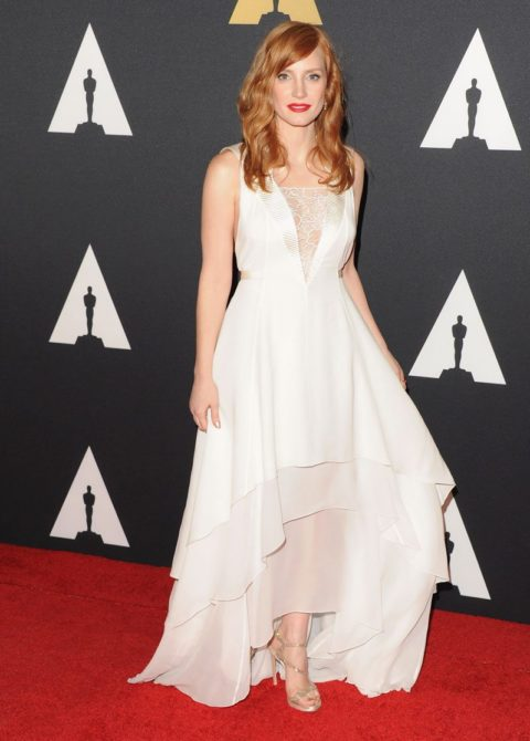 Celebrity Style Jessica Chastain Academy of Motion Picture Governors Awards