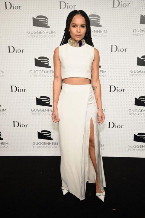 Celebrity Style Zoe Kravitz Guggenheim Gala Dinner