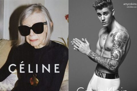 Joan Didion Celine Justin Bieber Calvin Klein