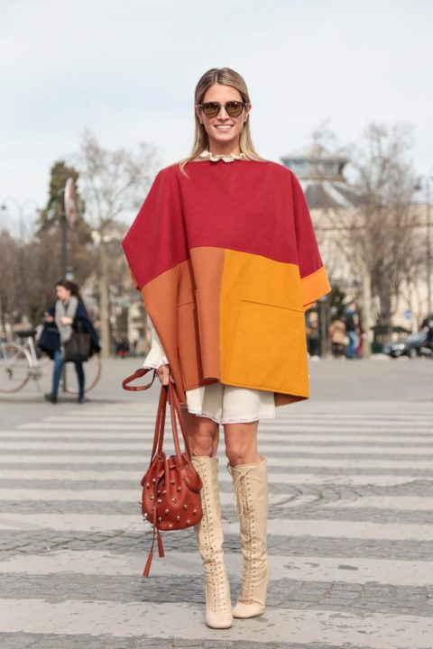 fall 2015 top 10 trends poncho street style