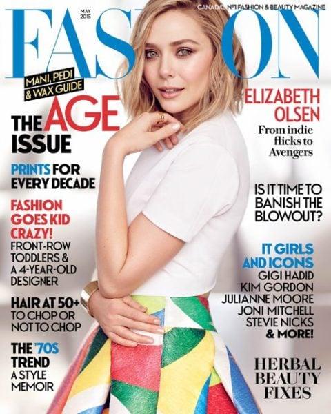 FASHION Magazine May 2015 Cover Elizabeth Olsen