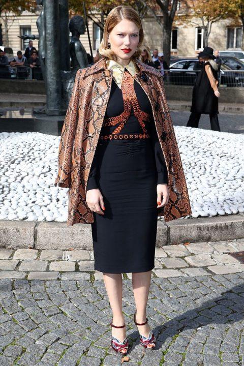 paris fashion week spring 2016 front row lea seydoux