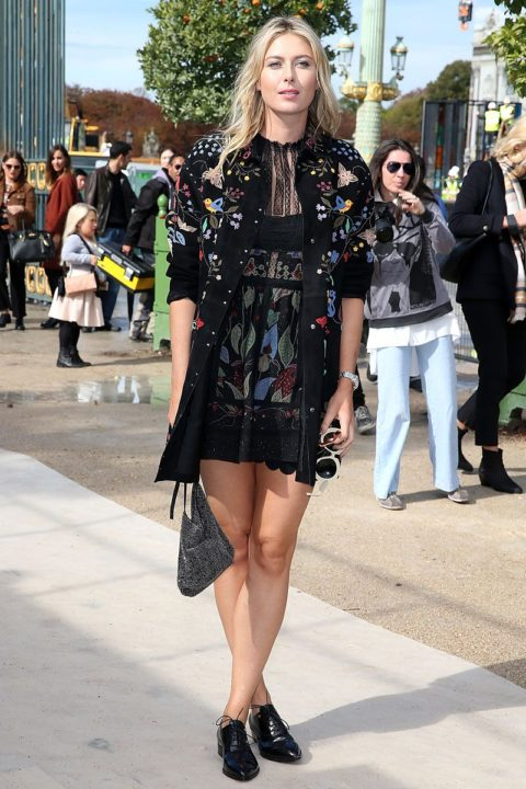 paris fashion week spring 2016 front row maria sharapova