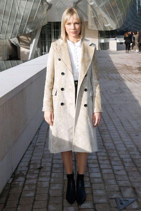 paris fashion week spring 2016 front row michelle williams