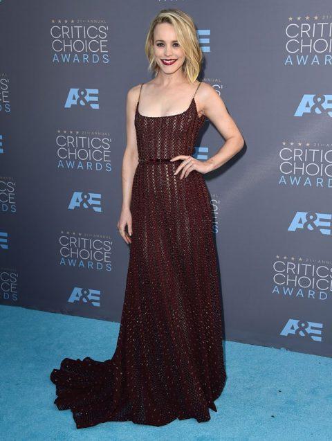 critics choice awards 2016 red carpet rachel mcadams