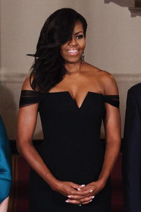 off the shoulder trend michelle obama