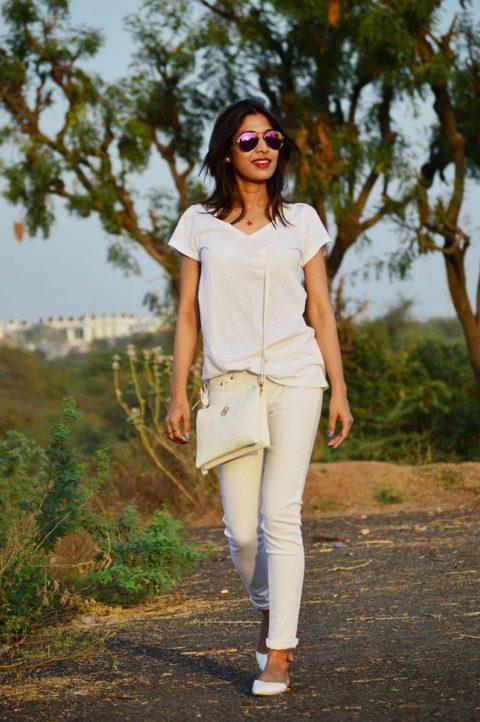 how to wear the all white trend sarmistha goswami