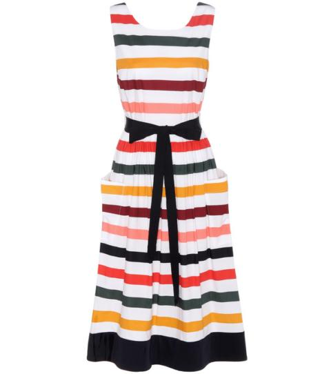 The Latest Eveningwear Trend: Colourful Stripes
