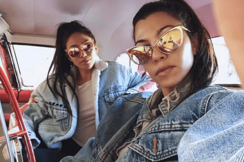 Kourtney Kardashian Jean Jacket Styling Tips