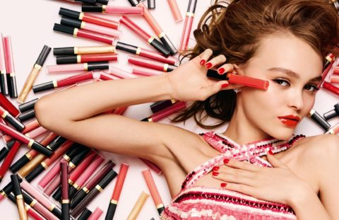 chanel rouge coco gloss lily rose depp