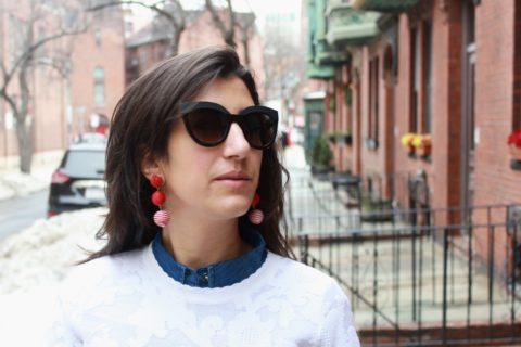 how to wear statement earrings