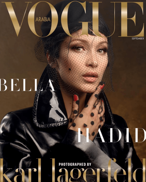 bella hadid september covers