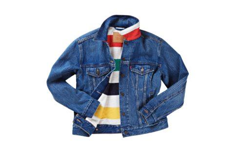 Levis hudsons bay trucker jacket